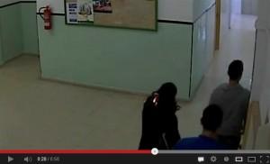 Captura de Video del momento donde ocurrió el suceso